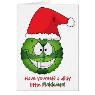 Tarjeta Navidad extraña divertida extraña del navidad de