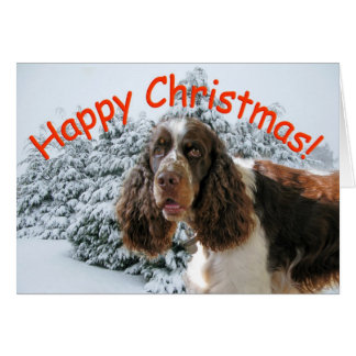 Tarjeta ¡Navidad feliz del saltador!