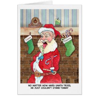 Tarjeta Navidad: Luchas internas de Santas