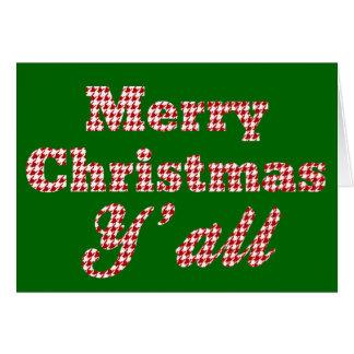 Tarjeta Navidad meridional que saluda Houndstooth