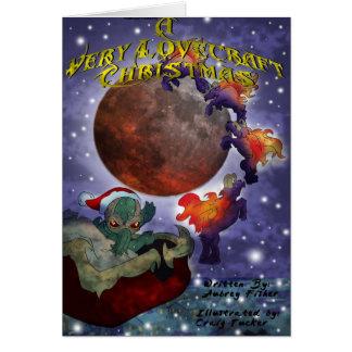 Tarjeta Navidad mismo de un Lovecraft