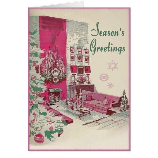 Tarjeta Navidad moderno de los saludos de las estaciones