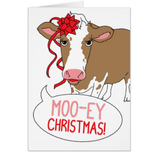 Tarjeta ¡Navidad MOO-ey!