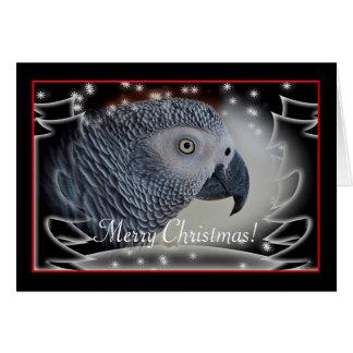 Tarjeta Navidad Nevado del gris africano