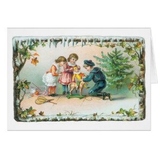 Tarjeta Navidad pasado de moda