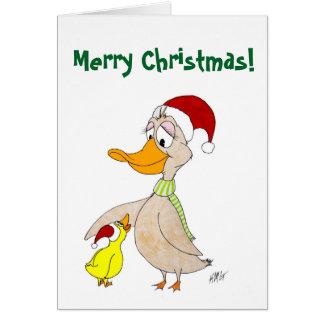 Tarjeta Navidad: Patos