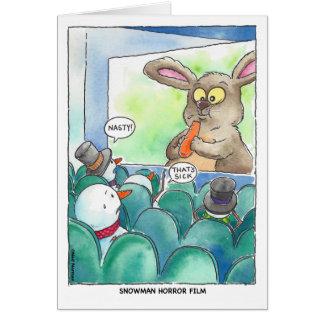 Tarjeta Navidad:  Película de terror del muñeco de nieve