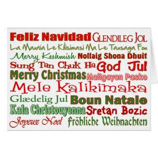Tarjeta Navidad por todo el mundo