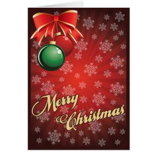 Tarjeta Navidad que saluda Card001