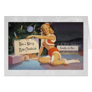 Tarjeta Navidad retro modelo