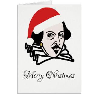 Tarjeta Navidad Shakespeare