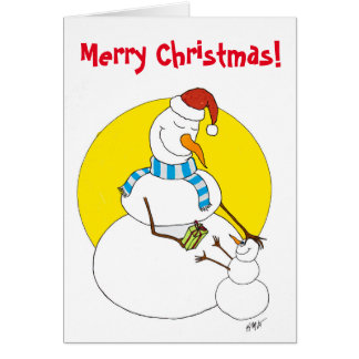 Tarjeta Navidad: Snowpeople