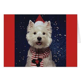 Tarjeta Navidad-Temática preciosa de Westie