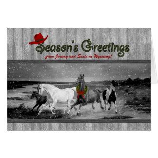 Tarjeta Navidad temático occidental del personalizado de