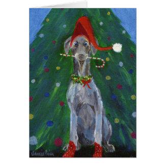 Tarjeta Navidad Weimaraner