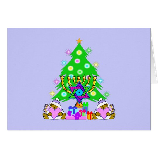 Tarjeta Navidad y Jánuca junto