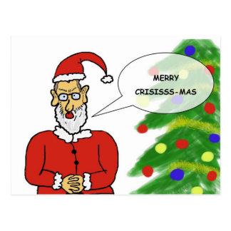 Tarjeta navideña divertida postal