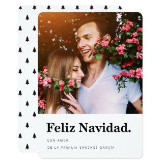 Tarjeta Navideñas de Fotos el | Tipografía Moderna Invitación 12,7 X 17,8 Cm