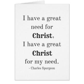 Tarjeta Necesidad de Cristo