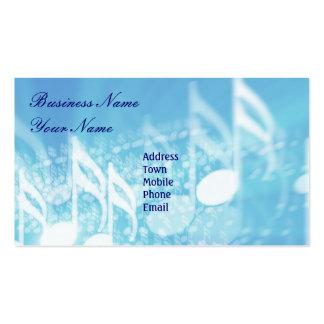 Tarjeta Negocio-Personal de la música Plantillas De Tarjetas Personales