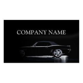 Tarjeta negra automotriz del alquiler del mecánico tarjetas de visita