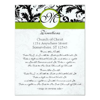 Tarjeta negra de la dirección del boda del invitación 10,8 x 13,9 cm
