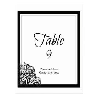 Tarjeta negra del asiento de la tabla del medallón