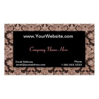 Tarjeta negra del perfil del damasco de la insinua plantillas de tarjeta de negocio