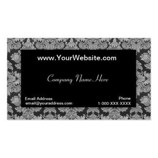 Tarjeta negra del perfil del damasco de la pendien tarjetas de visita