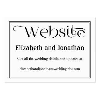 Tarjeta negra y blanca simple del Web site del Tarjetas De Visita Grandes