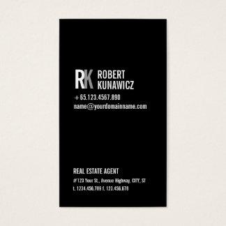 Tarjeta negra y blanca simple moderna