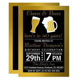 Invitaciones Cumpleaños Para Hombre Elegante | Zazzle.es