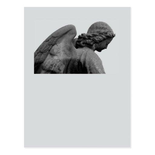 tarjeta neutral de luto con ángel tarjeta postal