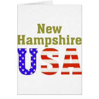 Tarjeta ¡New Hampshire los E.E.U.U.!