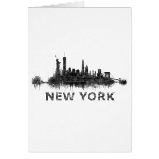 Tarjeta New York Dark-White Skyline v07