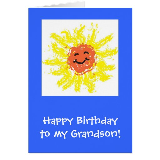Tarjeta/nieto del feliz cumpleaños