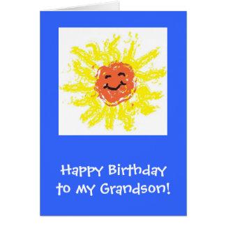 Tarjeta/nieto del feliz cumpleaños tarjeta de felicitación