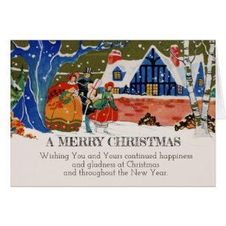 Tarjeta Nieve de lujo del día de fiesta del navidad del