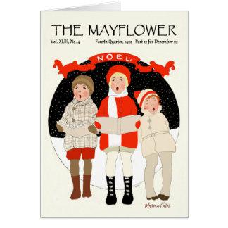 Tarjeta Nieve de Noel del navidad del vintage de los niños