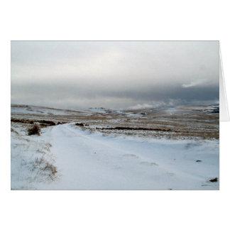Tarjeta Nieve del invierno en Dartmoor