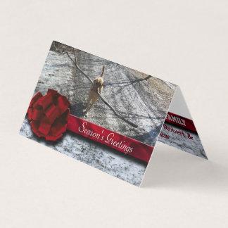 Tarjeta Nieve roja de la cinta de la baya