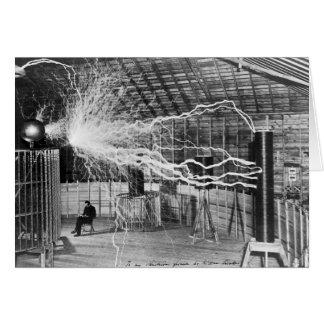 Tarjeta Nikola Tesla, Colorado Springs, 1899