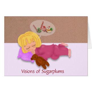 Tarjeta Niña durmiente que soña con Sugarplums