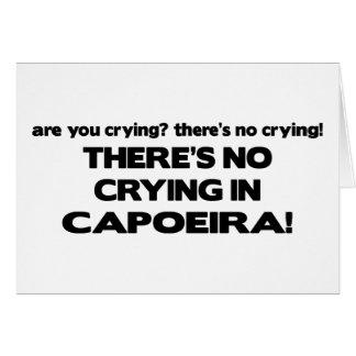 Tarjeta Ningún griterío - Capoeira