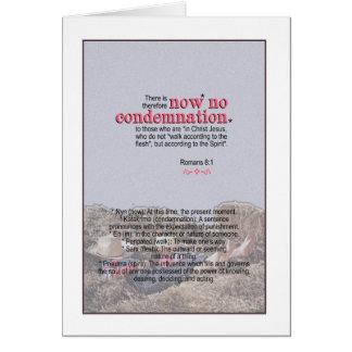 Tarjeta NINGUNA condenación - 8:1 de los romanos