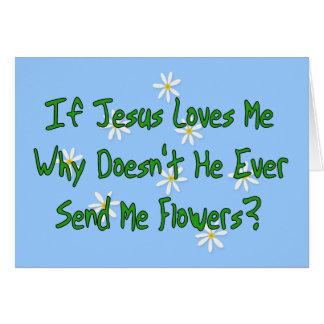 Tarjeta Ningunas flores de Jesús