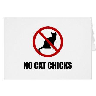 Tarjeta Ningunos polluelos del gato