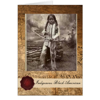 Tarjeta Niño indio americano negro nativo