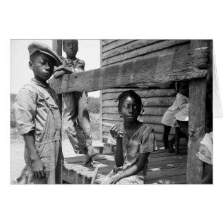 Tarjeta Niños del delta de Mississippi de Dorothea Lange