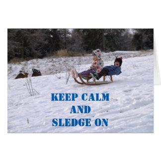 Tarjeta Niños sledging